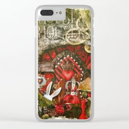 Queen of the Hearts Clear iPhone Case