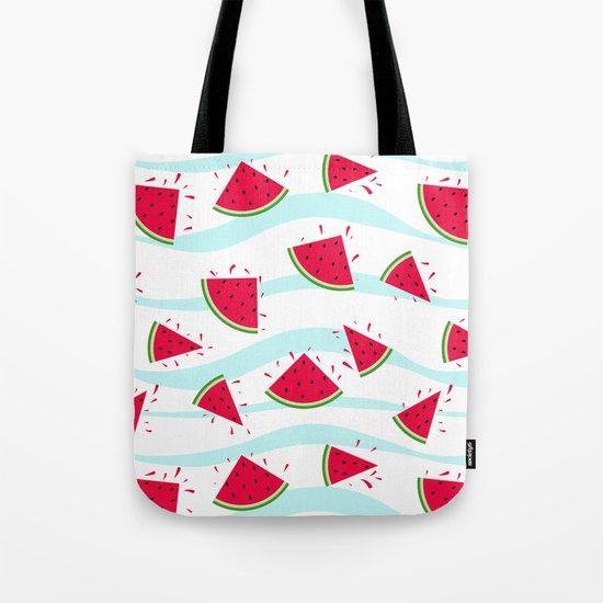 Watermelon pattern . Retro . Tote Bag