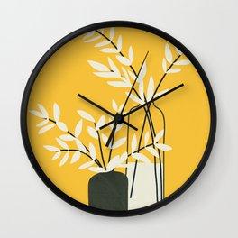 Abstract Vases Wall Clock