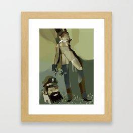 TinTin's dog  Framed Art Print