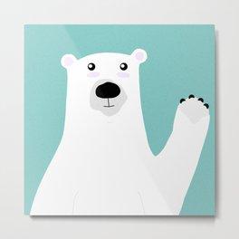 Paul the Polar Bear Metal Print