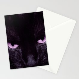 Black Cat in Amethyst - My Familiar Stationery Cards