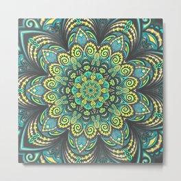 Flower Power - Mandala Art Metal Print