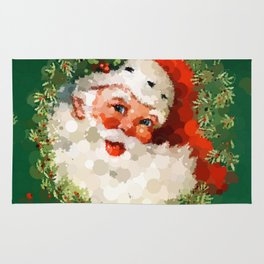 Bubble Dot Santa Christmas Rug