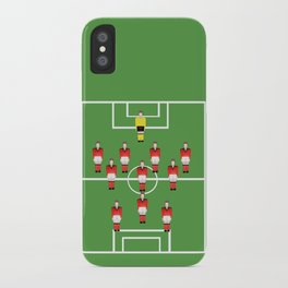 Soccer football team in red iPhone Case