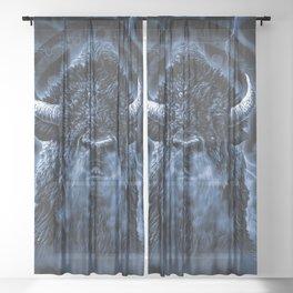 SPIRIT BUFFALO Sheer Curtain