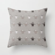 Wiggly Sloths Throw Pillow