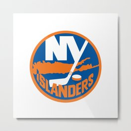 New York Islander Logo Metal Print