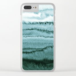 WITHIN THE TIDES - OCEAN TEAL Clear iPhone Case