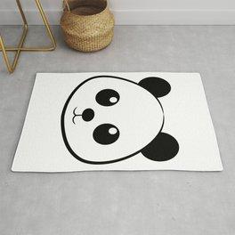 Smiling  panda face Rug