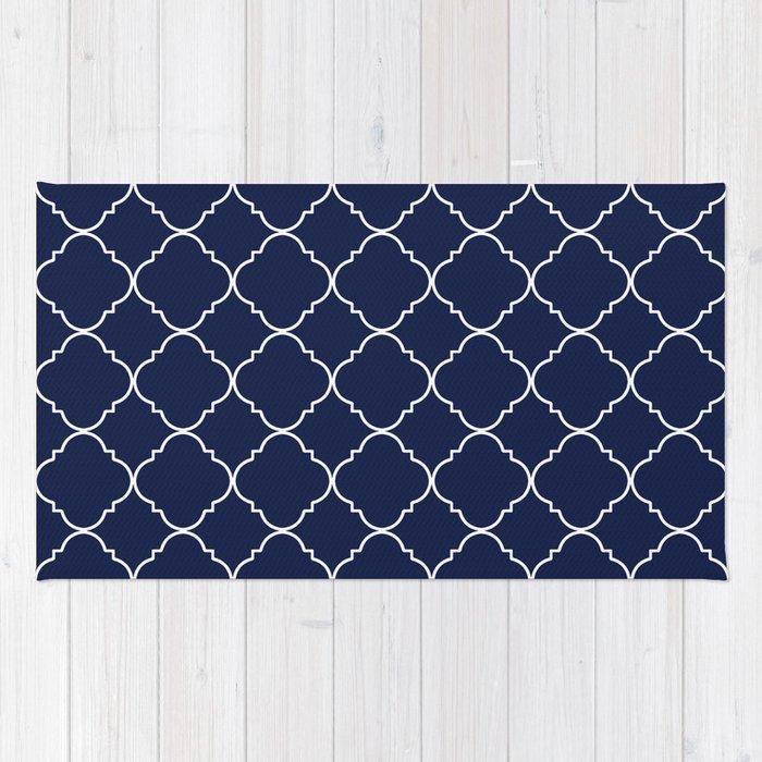 Navy Blue Moroccan Rug