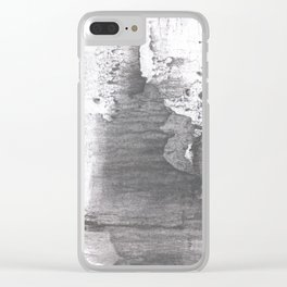Gray painting Clear iPhone Case