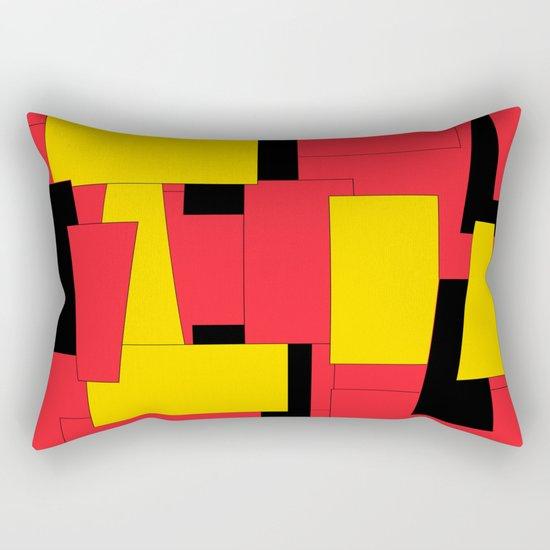 Geometric Pleasing Colors Rectangular Pillow