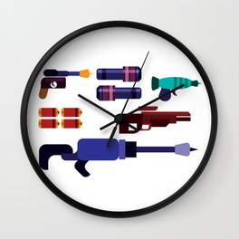 2030 Laser Guns Wall Clock