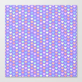 Pastel Rebel Hearts on Purple, Rebel Alliance, Rebel Scum, Rogue One Canvas Print