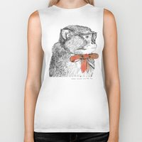 bow Biker Tanks featuring red bow by Mary Szulc