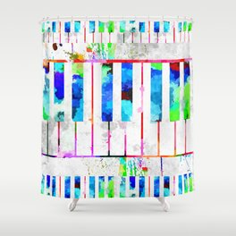 Piano Keyboard Shower Curtain