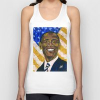 obama Tank Tops featuring Obama by Stan Kwong