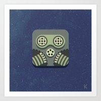 steam punk Art Prints featuring Steam Punk Mask by Nick Kumbari