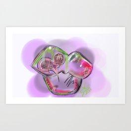 HASHtag Kiss Art Print