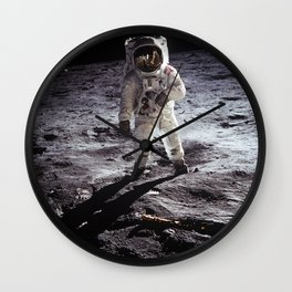Apollo 11 - Iconic Buzz Aldrin On The Moon Wall Clock