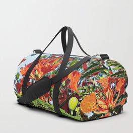 Tropical Royal Poinciana Tree Full Bloom Duffle Bag