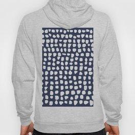 Dots / Navy Hoody
