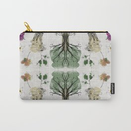 Tree Circle of Life Botanical Watercolor Carry-All Pouch