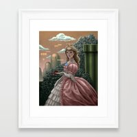 peach Framed Art Prints featuring Peach by Joifish