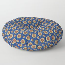 Swirly Sunflower Floor Pillow