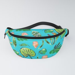 Tropical Paradise Turquoise Fanny Pack