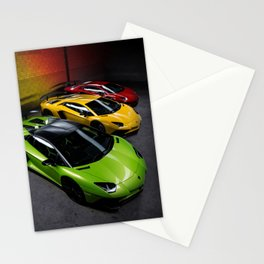 Supercar Traffic Lights Aventador SV Stationery Cards