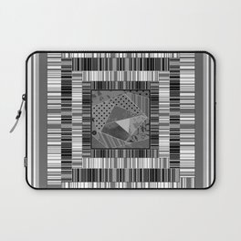 Abstract pattern . Patchwork striped . Laptop Sleeve