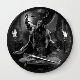 I. The Magician Tarot Card Illustration Wall Clock