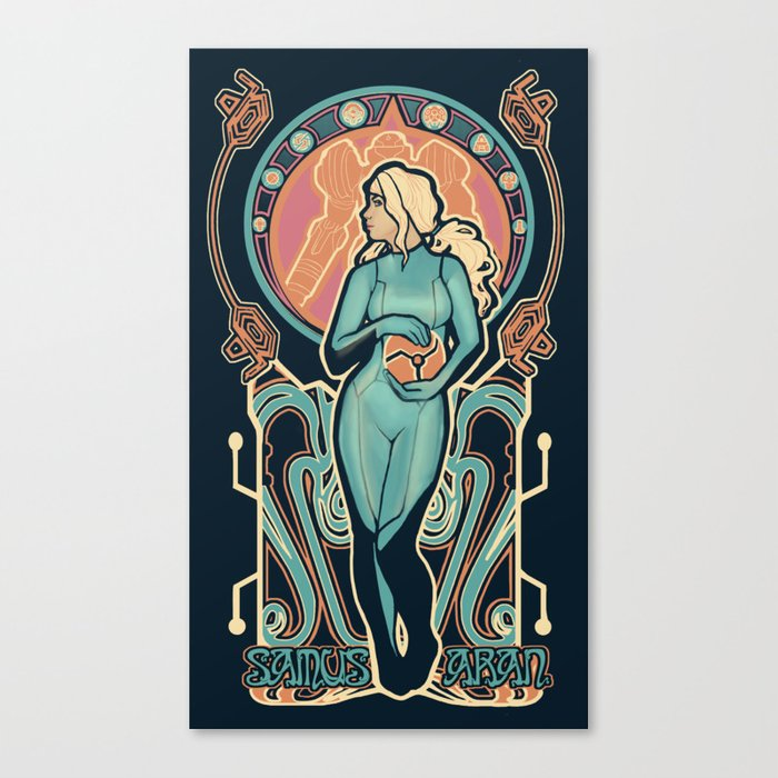 Samus Nouveau Canvas Print
