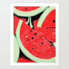 Watermelon, 2013. Art Print