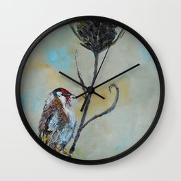 Goldfinch on Thistle Wall Clock