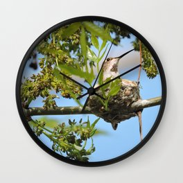 Hanging Out Over B Street Wall Clock