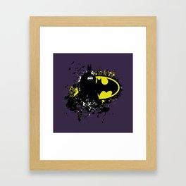 Splashing Bat Framed Art Print