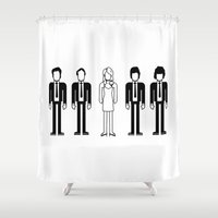 blondie Shower Curtains featuring Blondie by Band Land