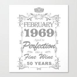 February 1969 50th Birthday Canvas Print