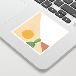 Abstract Cactus II Sticker