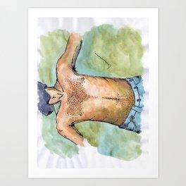 SHIRTLESS Art Print