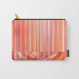 mixed Pattern orange Carry-All Pouch