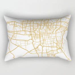 TEHRAN IRAN CITY STREET MAP ART Rectangular Pillow