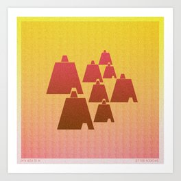 Music in Monogeometry : Broken Bells Art Print