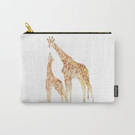 Mother and Baby Giraffes Carry-All Pouch