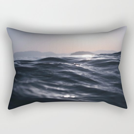 Water and Sun in the Distance (Lake / Ocean) Rectangular Pillow