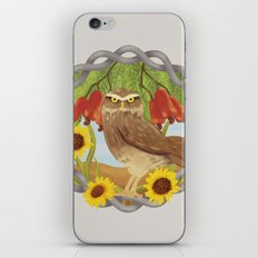 cashew and owl iPhone Skin