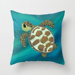 Cruising Tortuga Throw Pillow